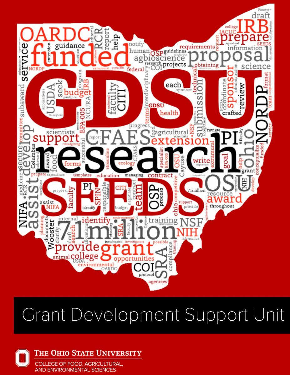 GDSU Onboarding Packet Cover Photo of Ohio Word Cloud