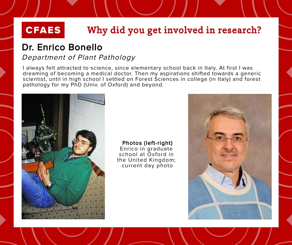 Dr. Enrico Bonello, Why did you get involved in research graphic.
