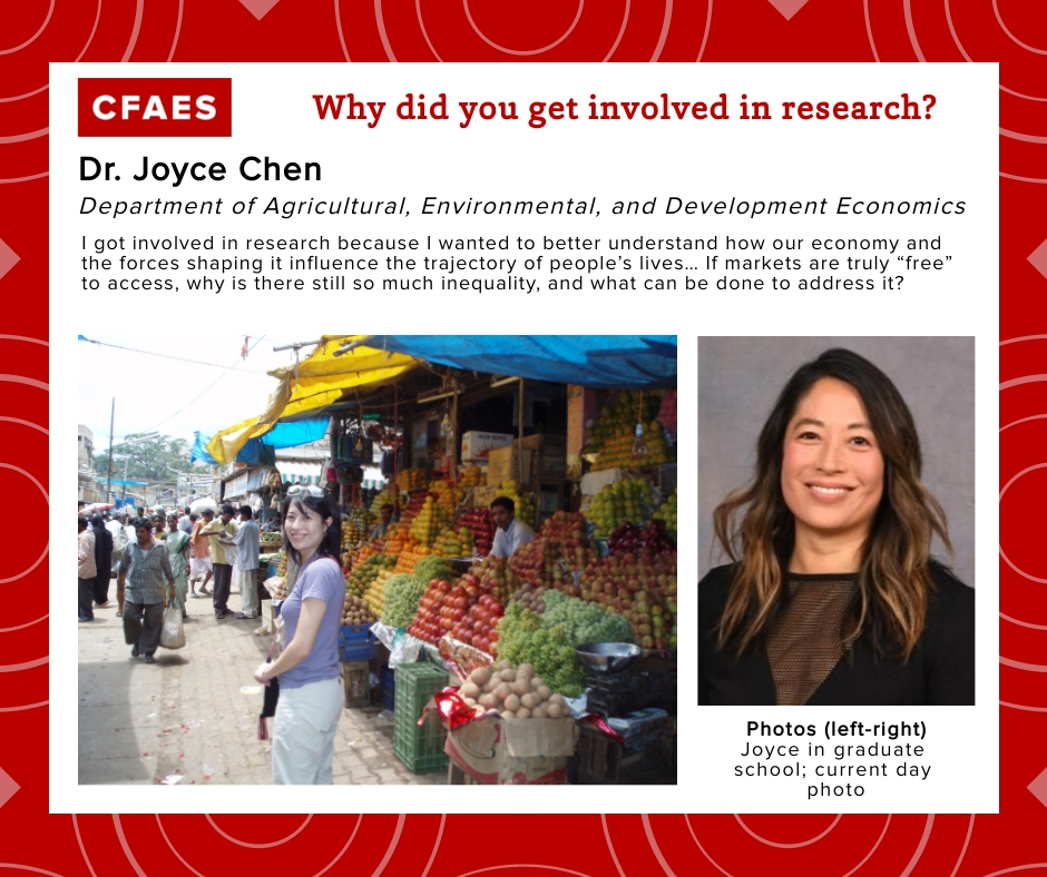 Dr. Joyce Chen, Why did you get involved in research graphic.
