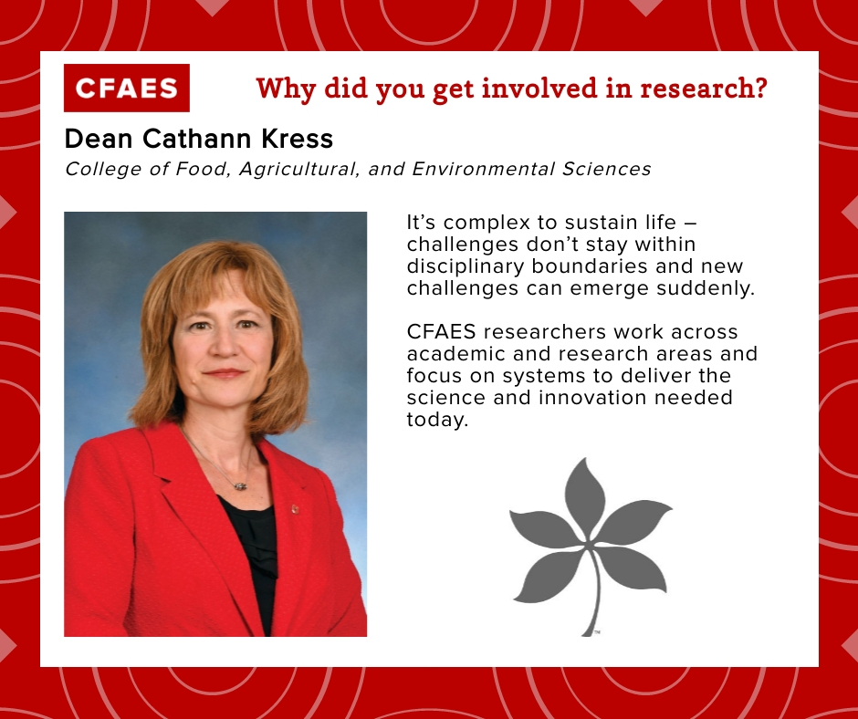 Dean Cathann Kress, Why did you get involved in research graphic.