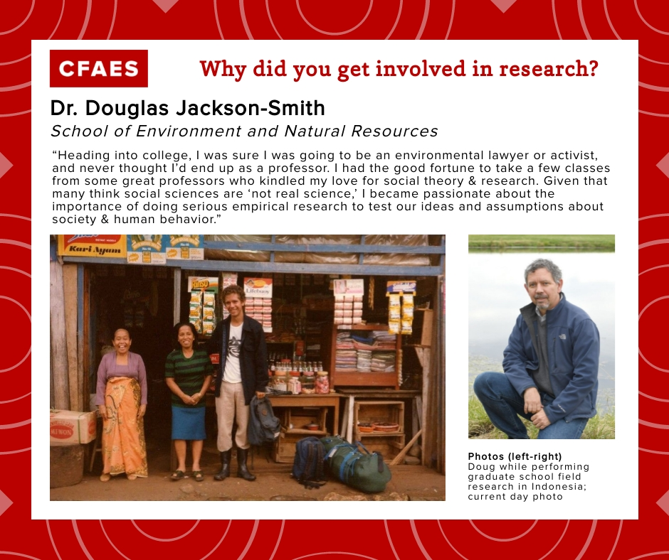 Dr. Douglas Jackson-Smith, Why I Got Involved In Research Graphic