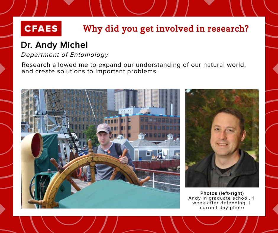 Dr. Andy Michel, Why did you get involved in research graphic.