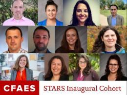 Headshots of CFAES STARS 12 person inaugural cohort