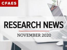 Laptop on a Desk & Newsletter Title - Research News for November 2020