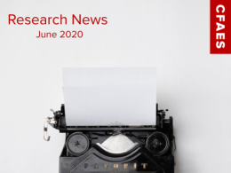 Old Fashioned Typewriter & Newsletter Title - Research News for June 2020