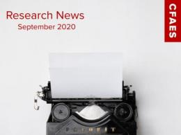 Old Fashioned Typewriter & Newsletter Title - Research News for September 2020