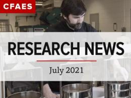 Dr. Steve Culman in lab under the newsletter title - Research News for July 2021