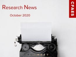 Old Fashioned Typewriter & Newsletter Title - Research News for October 2020