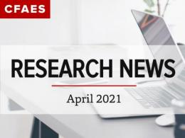 Laptop on a Desk & Newsletter Title - Research News for April 2021